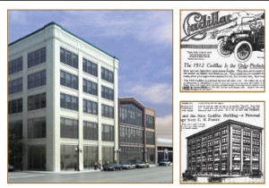 1911-2012 CADILLAC SHOWROOM & 1911 AD