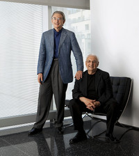MICHAEL TILSON THOMAS WITH GEHRY (seated)